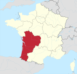 Aquitaine Region Map