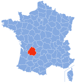 Dordogne Region Map - Wikipedia