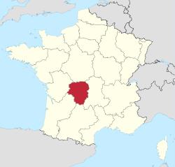 Limousin Region Map Wikipedia